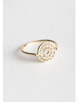 Sun Dial Pendant Ring by & Other Stories
