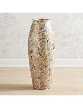 Metallic Leaves Floor Vase by Pier1 Imports