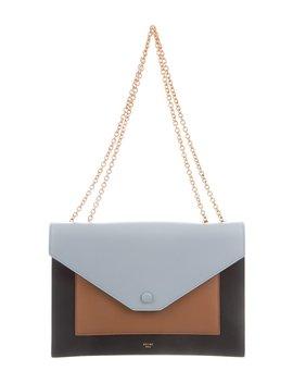 Céline Tri Color Leather Pocket Flap Bag by Celine