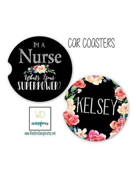 Nurse Gift, Slp Car Coasters, What's Your Superpower, Nurse Appreciation, Occupational Therapist Gift, Slp Gift, Doula Gift, Cota Gift by Etsy