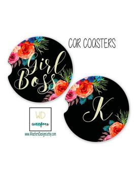 Girl Boss Car Coasters Custom Friend Birthday Gift New Job Gift  Coasters Accessories For Her Hustle Car Coaster, Motivational (Car00037) by Etsy
