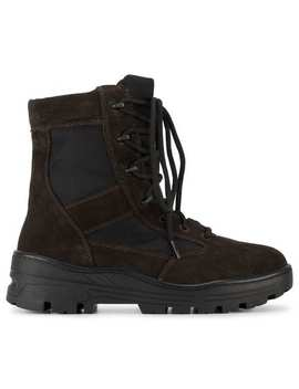 Black Lace Up Combat Boots by Yeezy