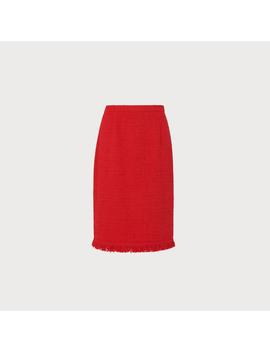 Myia Red Tweed Skirt by L.K.Bennett