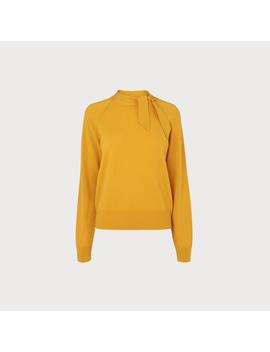 Elliott Yellow Wool Cashmere Sweater by L.K.Bennett