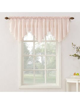 No. 918 Erica Sheer Crush Voile Single Ascot Curtain Valance by No. 918