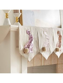 Bunny Silhouette Mantel Scarf by Pier1 Imports