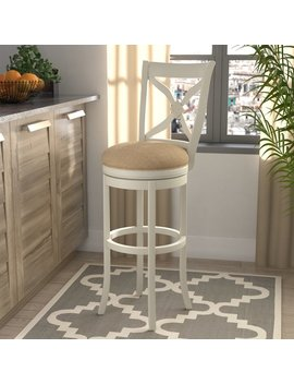 "Nasturtium 34"" Swivel Bar Stool by Lark Manor"