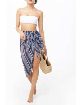 Striped Swim Cover Up by Forever 21