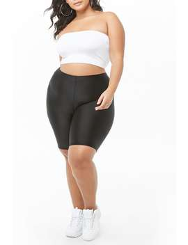 Plus Size Stretch Biker Shorts by Forever 21