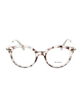 Marble Round Eyeglasses by Miu Miu