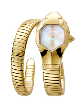 22mm Glam Chic Coiled Snake Bracelet Watch by Just Cavalli