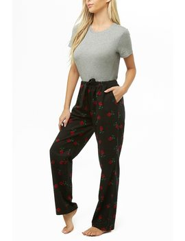Rose Print Pyjama Trousers by Forever 21