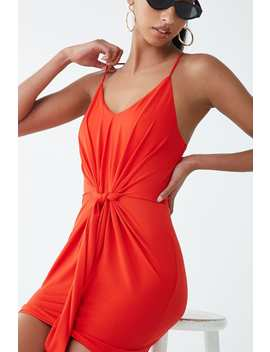 Tie Front Cami Mini Dress by Forever 21