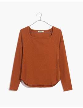 Square Neck Long Sleeve Tee by Madewell