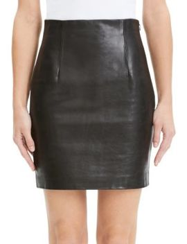 Leather Mini Skirt by Theory
