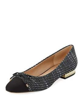 Nantes Boucle Pearl Heel Flats by Karl Lagerfeld Paris