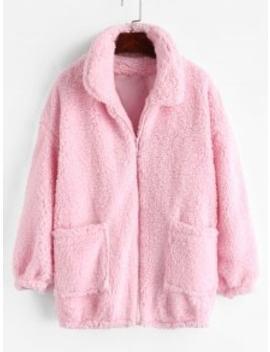 Fluffy Faux Fur Winter Teddy Coat   Pink S by Zaful