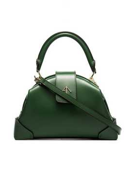 Jade Green Demi Top Handle Leather Handbag by Manu Atelier