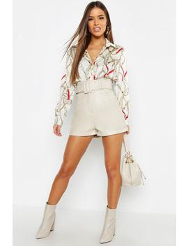 Petite Chain Print Shirt by Boohoo