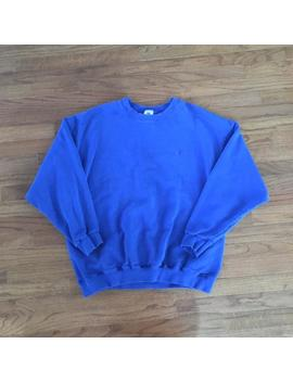 Vintage 90s Nike Blue Crewneck Sweatshirt Size Mens Large by Etsy