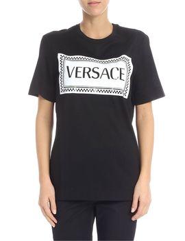 Versace Logo Printed T Shirt by Versace