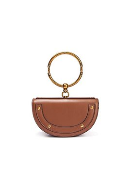 Viviesta Women's Genuine Leather Bracelet Ring Half Moon Shoulder Bag by Viviesta