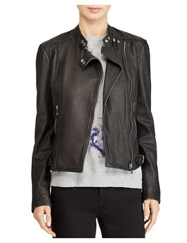 Leather Moto Jacket by Lauren Ralph Lauren