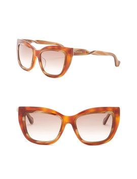 55mm Squared Cat Eye Sunglasses by Balenciaga