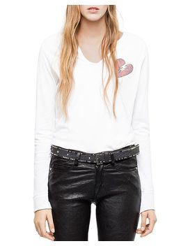 Strass Embellished Tee by Zadig & Voltaire