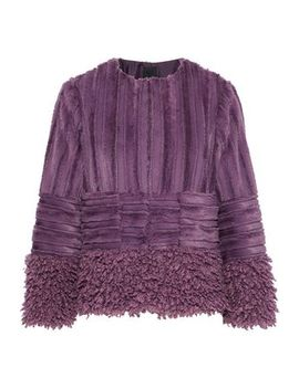 Paneled Faux Fur Jacket by Anna Sui