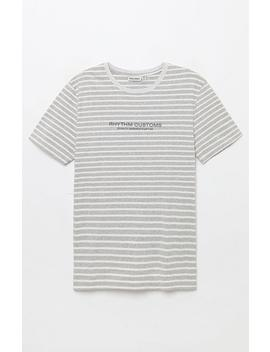Rhythm Gray Studio Stripe T Shirt by Pacsun
