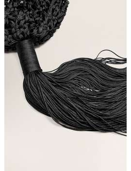 Fringed Crochet Bag by Mango