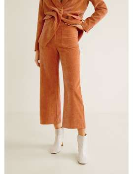 Pockets Corduroy Trousers by Mango