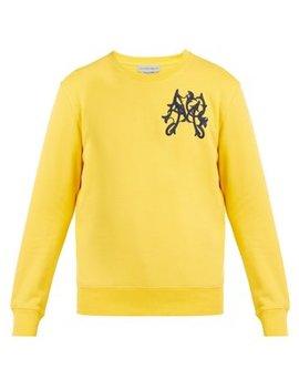 Embroidered Cotton Sweatshirt by Alexander Mc Queen