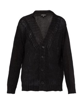 V Neck Loose Knit Linen Cardigan by Ann Demeulemeester