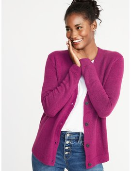 Slouchy Soft Brushed V Neck Cardi For Women by Old Navy