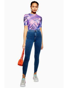 Mid Blue Asymmetric Joni Jeans by Topshop