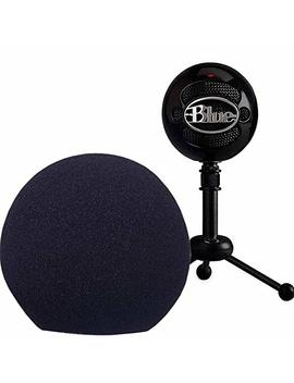 Professional Microphone Cover Foam Microphone Windscreen Wind Cover For Blue Snowball,Black by Folai