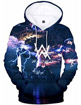 Bettydom Men's Women's Teen's Hoodies Alan Walker 3 D Printed Sweatshirt by Bettydom