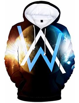 Bettydom Women's Novelty Hoodies Sweatshirt Inspired By Alan Walker 3 D Printed Pulover by Bettydom