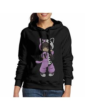 Vito H. Jackson Women's Hooded Sweatshirt No Pockets Jess From Aphmau Gaming Personalized Fashion Customization Black by Vito H. Jackson