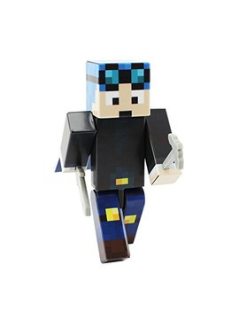 Ender Toys Blue Hair Miner Boy Action Figure Toy, 4 Inch Custom Series Figurines [Not An Official Minecraft Product] by Ender Toys