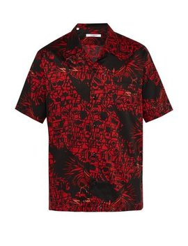 Monster Print Cotton Shirt by Givenchy