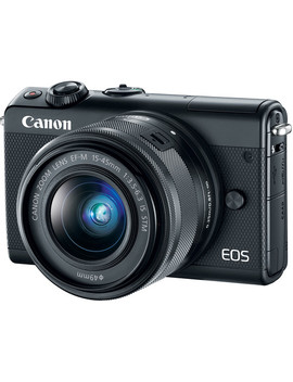 Eos M100 Mirrorless Digital Camera With 15 45mm Lens (Black) by Canon