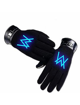 Alan Walker Cosplay Accessories Black Glowing Gloves by Mani Luck