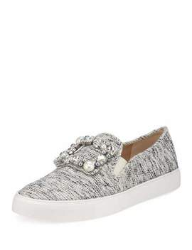 Evelyn Embellished Boucle Sneakers by Karl Lagerfeld Paris