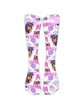 You Tube Aphmau Black And White Print Casual Long Socks For Both Of Men & Women by Beautiful 3 D Print Long Socks