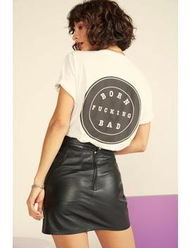 Nasty Gal Vintage Born Fucking Bad Relaxed Tee by Nasty Gal