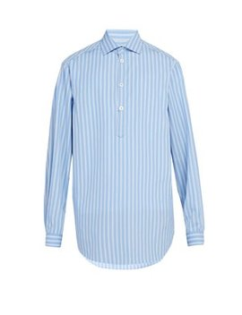 Striped Cotton Shirt by Gucci