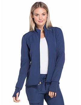 Heart Soul Hs315 Women's Zip Front Warm Up Solid Scrub Jacket by Heart Soul